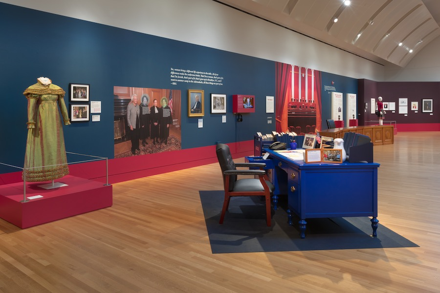 MODELS:   The exhibit uses recreations of important objects from GInsburg's life to illustrate the moments that turned Ginsburg into the icon she is now.  Photo by Robert Wedemeyer