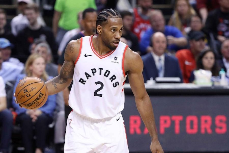 STAR%3A+Toronto+Raptors+forward+Kawhi+Leonard+gets+ready+to+drive+in+the+Raptors+118-109+victory+over+the+reigning-champion+Golden+State+Warriors+on+May+30.+Leonard%2C+the+2014+NBA+Finals+MVP+with+the+San+Antonio+Spurs%2C+played+a+team+high+43+minutes+and+scored+23+points+in+the+game.+