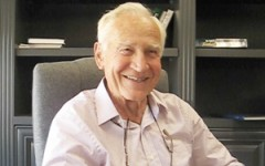 Interim Head of School Nat Reynolds, shown in his office last summer, was injured in a car accident on the way to school Jan. 31. He is recuperating at home in Ojai.