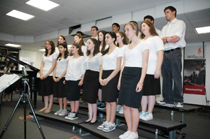 Choir concert reaches high notes in funky sneakers