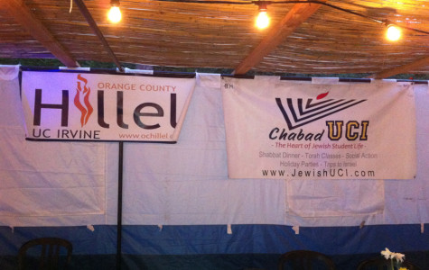 UCI's Chabad and Hillel put up a joint sukkah this year.  Students participated in a sukkah hop.