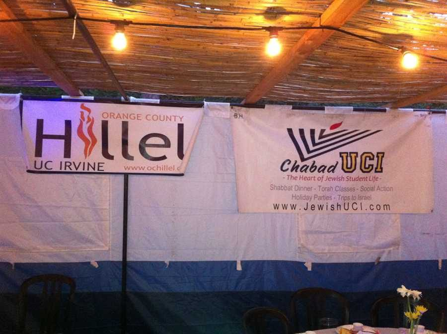 UCI%E2%80%99s+Chabad+and+Hillel+put+up+a+joint+sukkah+this+year.++Students+participated+in+a+sukkah+hop.