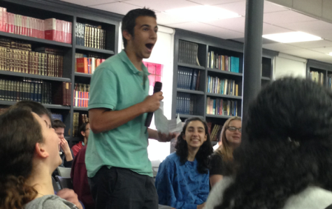 EVIDENCE: Junior Mati Hurwitz opened the debate with things he learned in Judaic Studies classes.