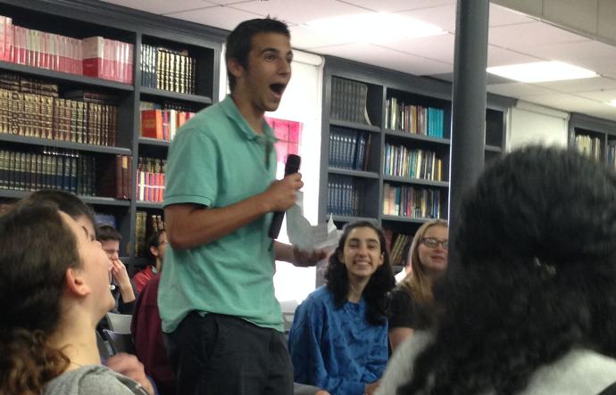 EVIDENCE: Junior Mati Hurwitz opened the debate with things he learned in Judaic Studies classes.
