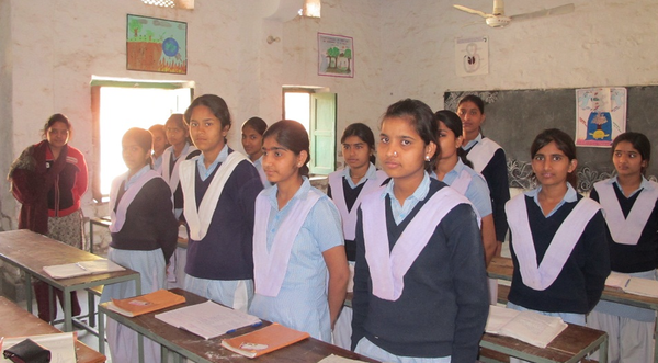 LEARNING: Students at the Veerni School in India in one of their classrooms. Shalhevet's chapter of Girls Learn International hope to support the school wide increasing awareness of a gender gap in education in many parts of the world.