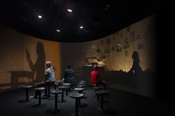 THE DIARY: Viewers at the exhibit get a peek into Anne Frank's life. The exhibit uses several types of technology effectively, but says little about the Jewish dimension of her story.