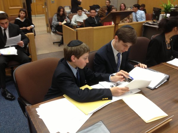 ELIMINATED: Prosecutors Scotty Silver  and Alec Fields prepare to cross-examine.
