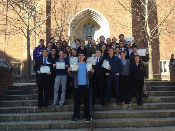 CANCELLED: Shalhevet's Model Congress team won 15 awards at Penn last year, above.