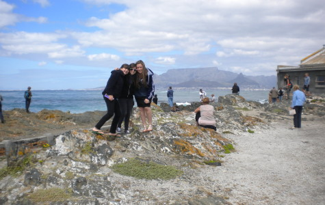 HISTORY: Clockwise from top right - Junior Nicole Feder and her sister Ariana visited Robben Island in 2010 with their cousin, Danielle Drozin, at right