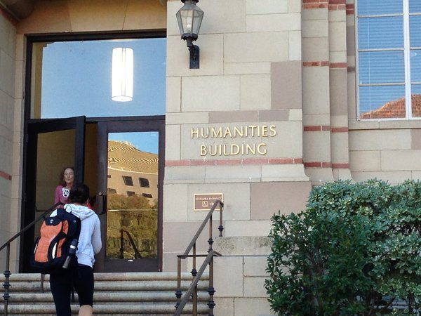 MEMBER: UCLA's Humanities Building, above, which houses the school's American Literature and Culture Department.