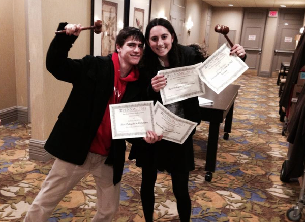 GAVELS: Juniors Daniel Steinberg and Sigal Spitzer won two awards each.
