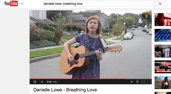 PASSION: Danielle Lowe's music video