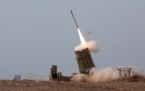 DEFENSE: Iron Dome missiles intercepting rockets sent by Hamas toward Israeli population centers. According to jpost.com, Iron Dome shot down 735 missiles of 3,659 that were fired.