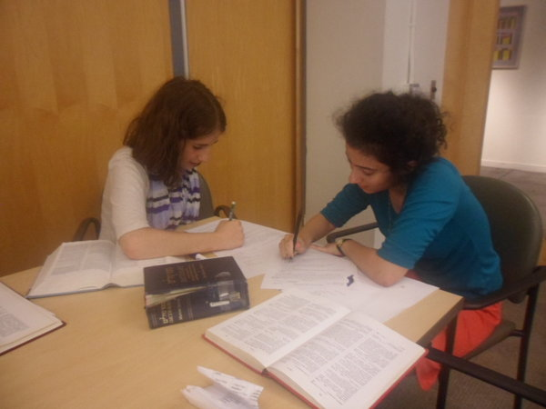 SACRED: Twenty girls studied Tanakh, Gemara and other religious texts at the Drisha institute in New York last summer. One was senior Anna Gordon, right.