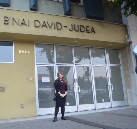 CHANGE: Alissa-Thomas Newborn outside B'nai David Judea in 2015, where she serves as spiritual leader.