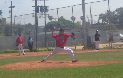 STRIKE: Jeremy Glouberman throws the heat as Shalhevet downs YULA for the first time since 2008.