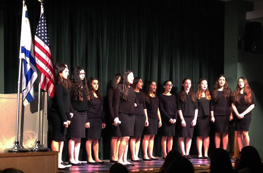 SING%3A+The+girls+of+the+Shalhevet+choir+perform+at+the+%E2%80%9CNeima%3A+Sing+It+Forward%E2%80%9D+competition+at+YULA+Girls+High+School+April+26.+They+lost+to+YULA+by+three+points.+