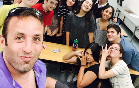 SELFIE: Mr. Danovitch captures a photo of one of his final Brit. Lit. classes at the JCC in June.