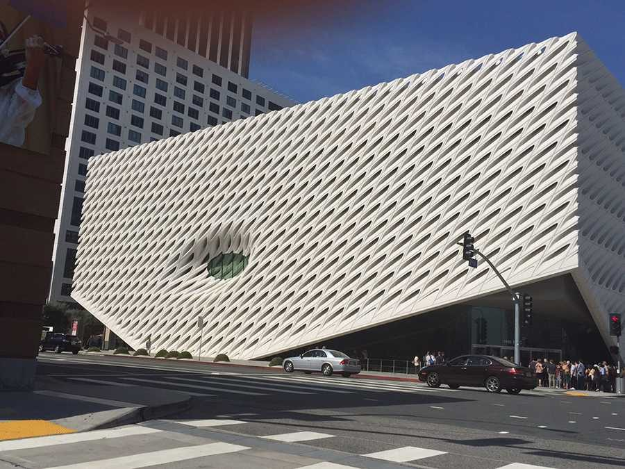 EYE:  The small oculus window allows light into the new Broad museum, across the street from Disney Hall downtown.