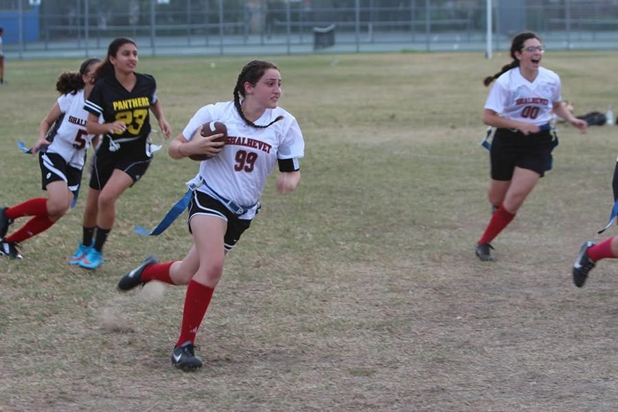 Lady Firehawks trounce YULA 20-0 in flag football rivalry game at LACES