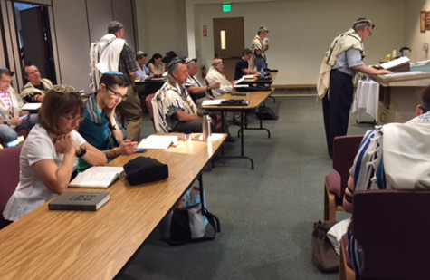 Off-CAMPUS:The egalitarian minyan of Temple Beth Am, above, is the only off-campus venue which students may skip school to attend so far. But Rabbi Segal said he would consider other alternatives.