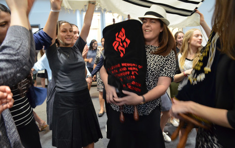 School gathers to celebrate newly completed Torah