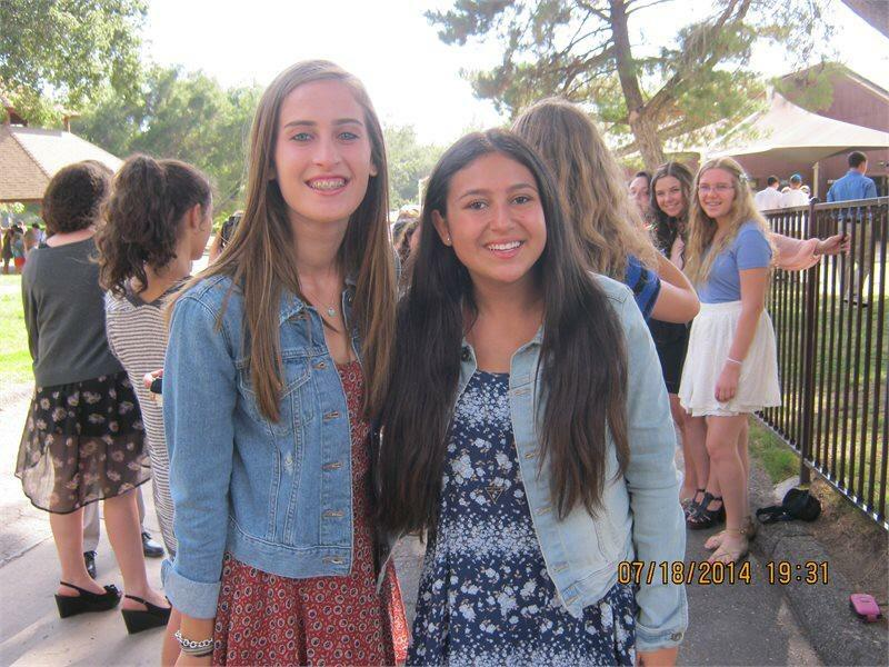 WELCOME%3A+Pictured+at+Ramah+during+the+summer+of+2014%2C+juniors+Michelle+Greenberg+and+Sarit+Ashkenazi++are+both+were+excited+that+their+camp+would+be+hosting+refugees.