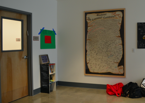 ABRIDGED: The Just Community Constitution that hangs outside second-floor administrative offices contains less than a third of the original document.