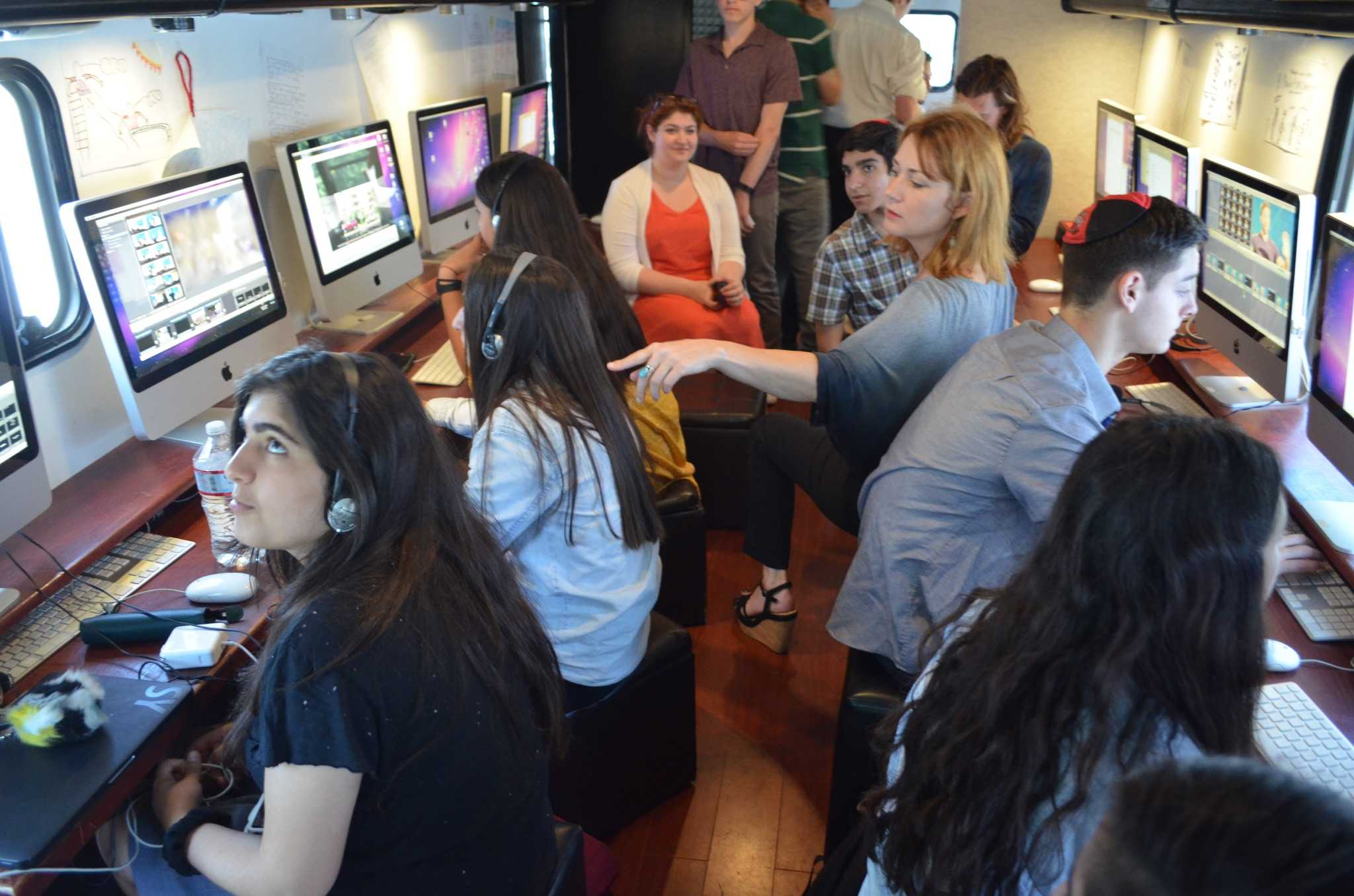 TRAILER: Classes worked inside a Mobile Film Classroom truck to research the Los Angeles housing crisis and later to edit the documentary, which debuts next fall .