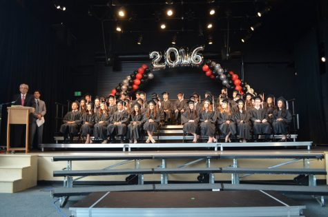 FAREWELL: School founder Dr. Jerry Friedman spoke at graduation in the new building took place in the gym June 5.  Percentage of graduates going to Israel for gap year has been rising.