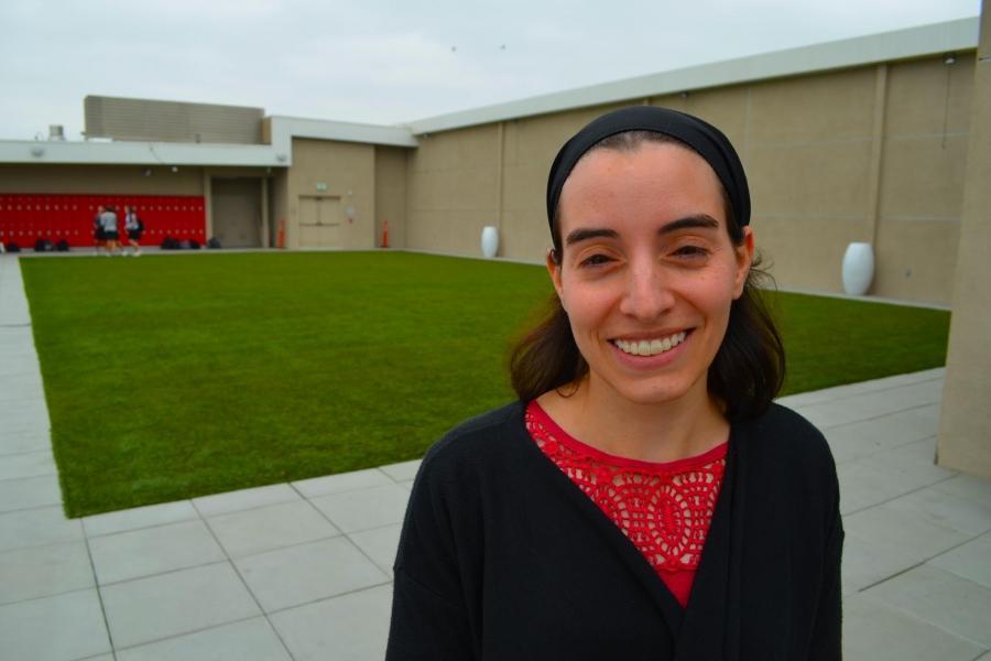 SQUASH: Ninth-grade Tanach teacher Ms. Smith fell in love with squash, a raquetball-like sport, while at Brandeis.