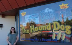Democrat? Clara Sandler made phone calls from the Hound Dog Hot Dog Shop.