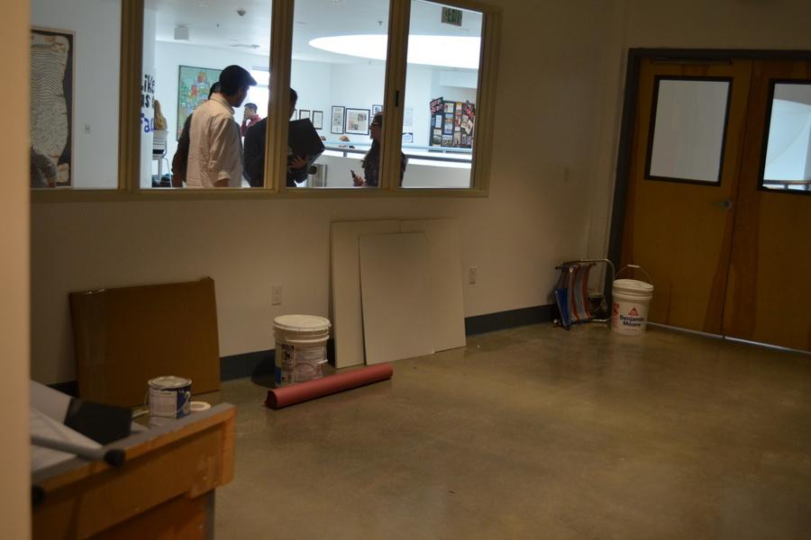 BUILT: New STEM room for the Robotics team replaced Genius Bar on second floor, is almost complete.