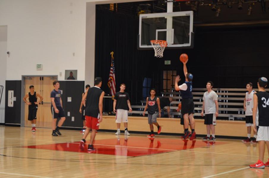 SCORE: Firehawk power forward Isaac Goor shot a layup during practice Nov. 9.  Shalhevet boys' first game in the 2016 Glouberman tournament is Thursday at 11:45 a.m.