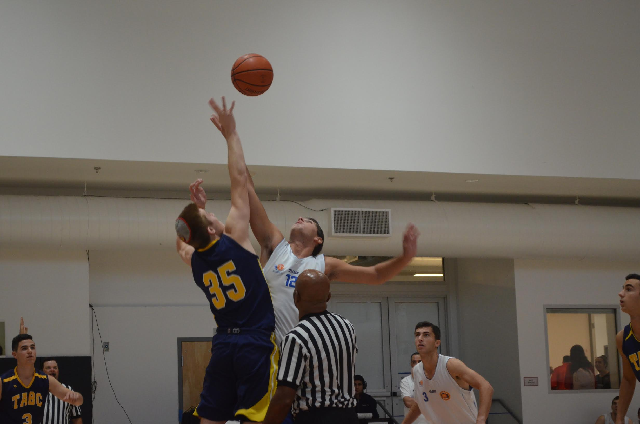 JUMP: Elitzur faced off against TABC on Nov. 10, and lost 48-31. They went 0-4 in the tournament.