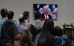 OATH: Students watched President Trump's swearing-in ceremony and inaugural address live in the gym Jan. 20.
