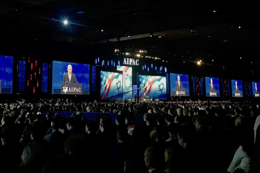 CROWD: 18,000 people filled the Walter E. Washington Convention Center in Washington DC on March 5 to hear from Israeli Prime Minister Benjamin Netanyahu.
