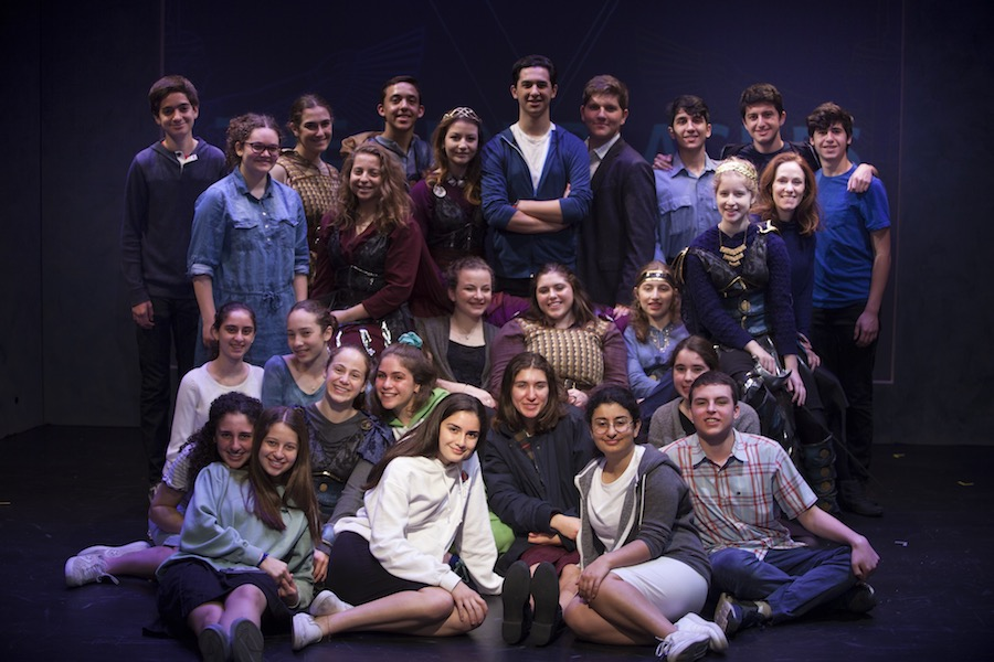 CAST%3A+Students+involved+in+the+drama+production+%27The+Ten+Plauges%27+pose+after+their+final+showing.+