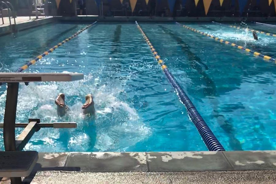 RACE: Firehawk feet breaking the water at UCLA