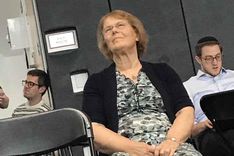 Students said they would miss watching Ms. Sunshine's facial expressions as a guide to understanding Town Hall.  These are candid photos of her taken during the last Town Hall of the year, May 31.