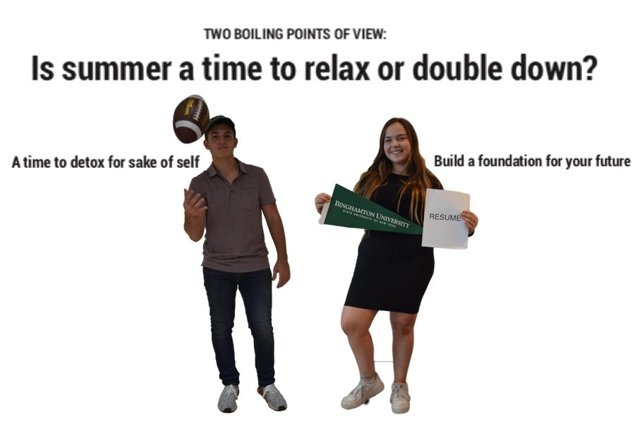 TWO BOILING POINTS OF VIEW: Is summer a time to relax or double down?