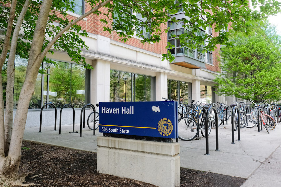 MICHIGAN:  The University of Michigan's Haven Hall, where the American Culture Department has its offices. The department adopted a BDS statement but does not require professors to follow its recommendations.