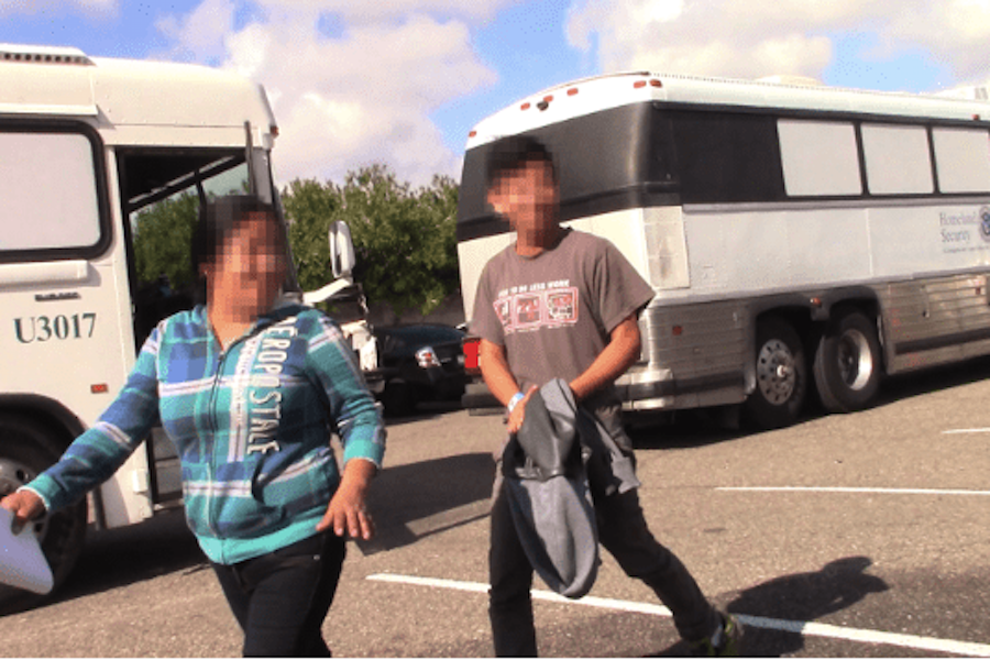 ARRIVAL:   A 17-year-old and his mother, both from Guatemala, were released in Phoenix Jan. 16 into the U.S. to await their asylum hearing. Faces are blurred to protect their identities.