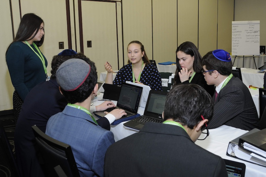 RECOGNITION:   Captian Ari Sassover, representing the UK in the U.N. Human Rights Council, won an honorable mention award.  Photo Courtesy of Yeshiva University