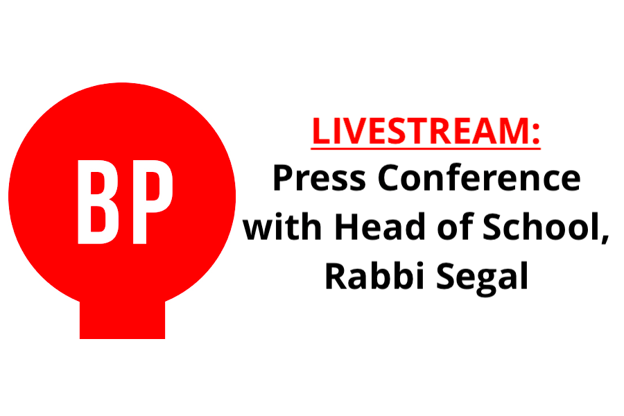 LIVESTREAM: Press Conference with Rabbi Segal
