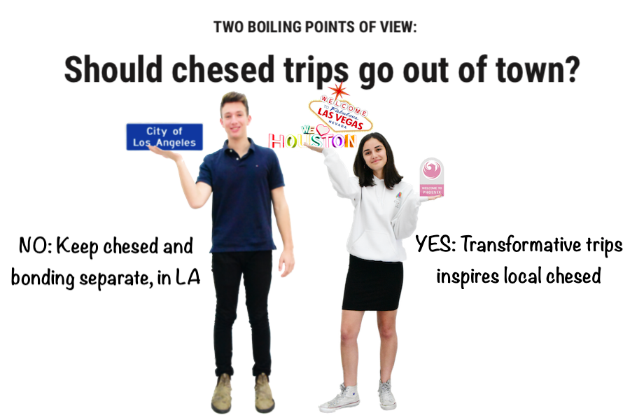 TWO BOILING POINTS OF VIEW: Should chesed trips go out of town?