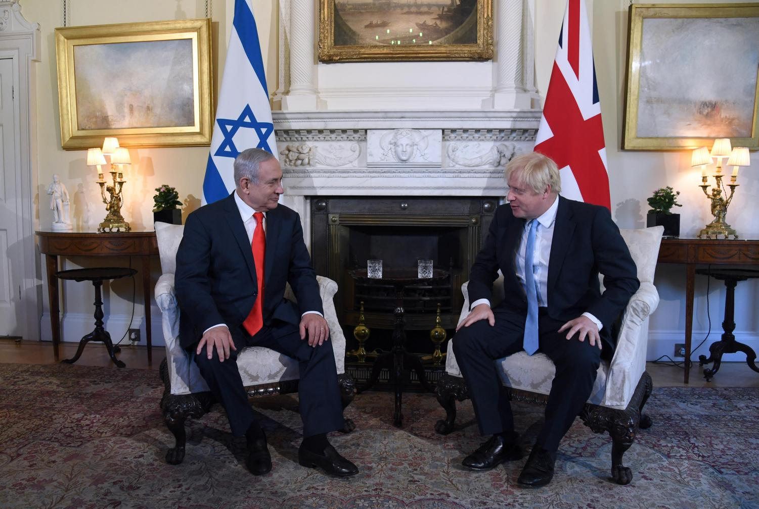 PARTNERSHIP: UK Prime Minister Boris Johnson, right, met with Israeli Prime Minister Benjamin Netanyahu at 10 Downing Street, the residence of the British prime minister, earlier this year. The two countries signed a trade agreement in February in case Brexit occurs.