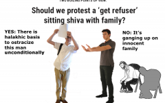 TWO BOILING POINTS OF VIEW: Should we protest a 'get refuser' sitting shiva with family?