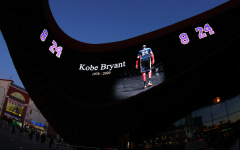 2020: Barclay's Center in Brooklyn, where the Nets play, displayed a tribute on its swooping courtyard for former Laker star Kobe Bryant in the hours after he died Jan. 26 in a helicopter crash. Mourning for Kobe has reached far beyond Los Angeles.