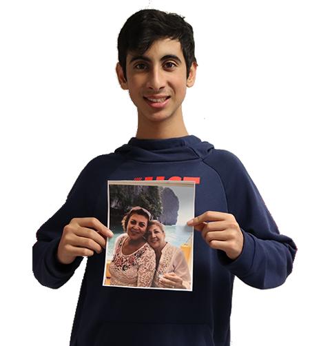 nosrati grandma persian profiling cutout